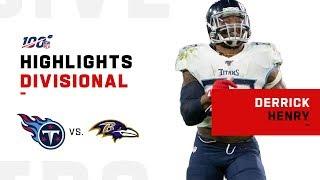Derrick Henry BULLDOZES Through Baltimore for 195 Yds | NFL 2019 Highlights