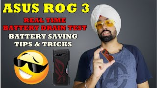 ASUS ROG Phone 3 | Real time Battery Drain Test 144 HZ | Tips & Tricks to Save Battery | 100 to 0 |