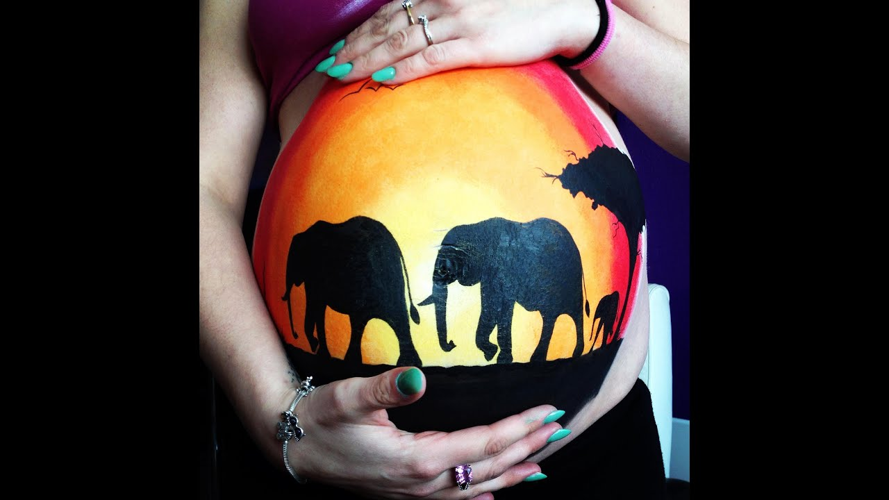Body Art Pregnant Belly Painting Bright Pregnancy Youtube