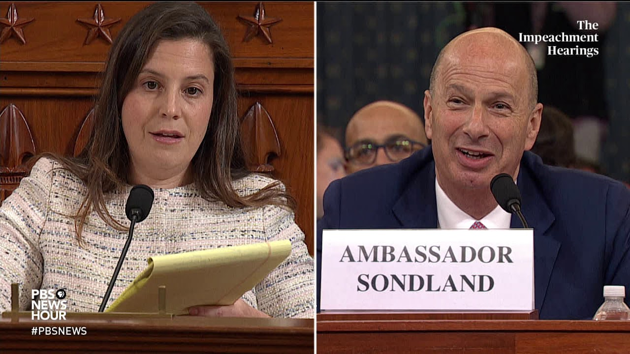 WATCH: Rep. Elise Stefanik's full questioning of Gordon Sondland | Trump impeachment hearings
