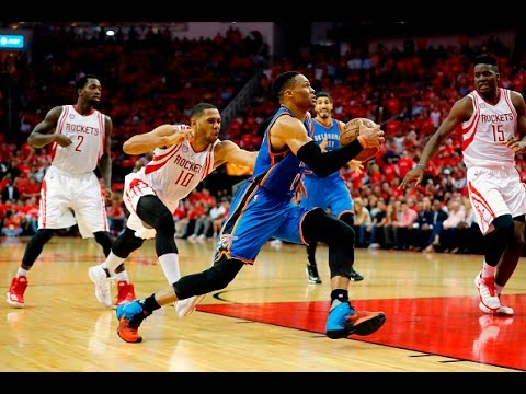 Westbrook Posts 1st Ever 50+ Point Triple-Double In Playoffs, Harden Scores 35 Points!