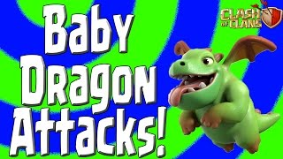 Clash of Clans - NEW Baby Dragon Attacks! - LavaLoonion + Baby Drag & Mass Baby Drags!