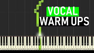 ♬ VOCAL WARM UPS #3 Minor Harmonic Scales 14 mins - By Sou...