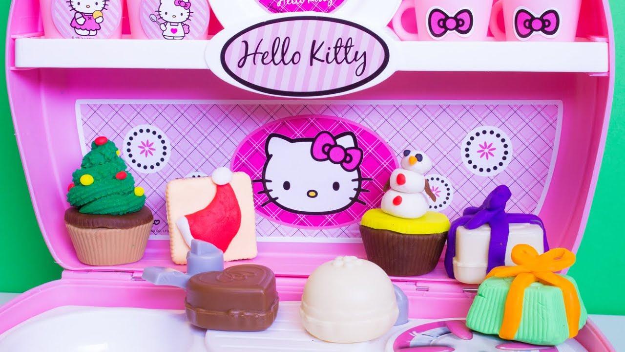 Play doh hello kitty mini kitchen playset mini cocina for Mini kitchen playset