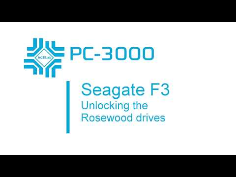 The complete video guide to unlock the Seagate F3 Rosewood drives