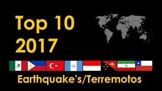Top 10 Terremotos en el Mundo 2017 / Top 10 World Earthquakes 2017