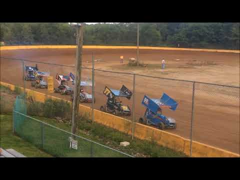 CHOPS CHROBAK 270 SPRINT HEAT RACE 7-28-18 HAMLIN SPEEDWAY