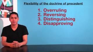 VCE Legal Studies - Flexibility of the doctrine of precedent
