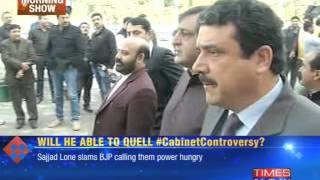 Jammu and Kashmir government battles cabinet controversy