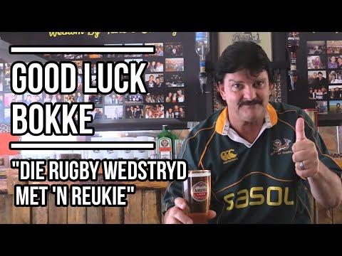 """Good Luck Bokke """"die rugby wedstryd met 'n reukie"""" – Doringdraad   Lag 'n Slag"""