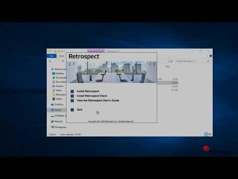 Retrospect Backup: Installation to 1-Click Backup - Windows