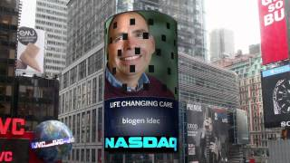 Biogen Idec on Time Square NASDAQ Tower