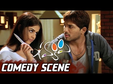 Allu Arjun Scolding His Friends With Genelia | Happy Movie Comedy Scene