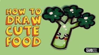 draw kawaii easy drawings broccoli garbi kw doodles drawing simple teaching