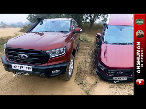 Custom Off-road Bumper On Ford Endeavour: Checking Approach And Departure Angles.