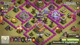 Clash Of Clans - Ataque na guerra com o objetivo de 3 estrelas - com dragões, magos e arqueiras 1#