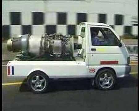 Jet Powered Van