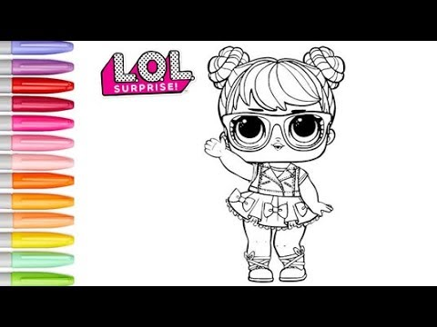 Coloring Lol Surprise Dolls Bon Bon Coloring Page For Kids Lol Surprise Dolls Colouring Book Pages Youtube