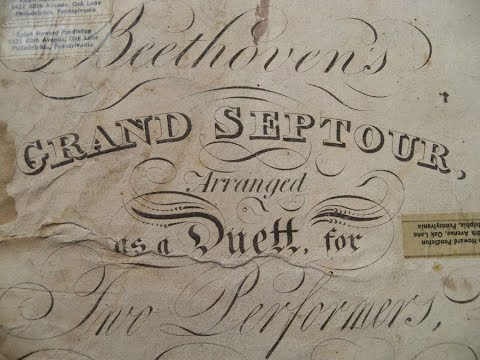 Beethoven, 200 yr-old music, Opus 20, The Grand Septour