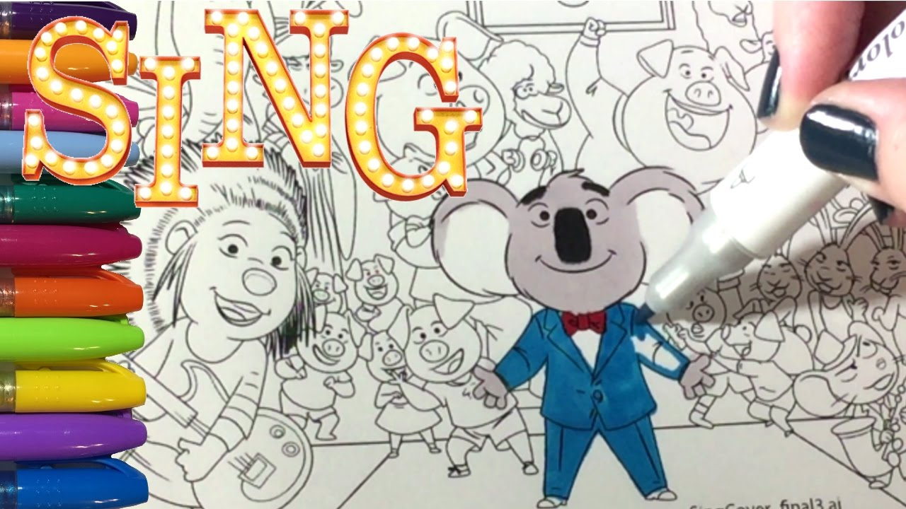 Sing Movie Coloring Pages With All The Characters Youtube