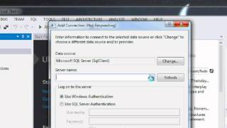 How to connect Visual studio 2012 with SQL Server 2008 and display data | tables