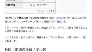 「1982年アジア競技大会」とは ウィキ動画