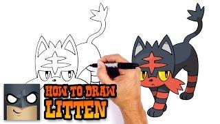How to Draw Litten | Pokemon