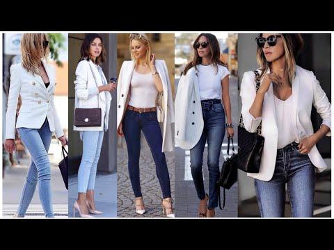 Como Vestir Elegante Con Jeans Outfits Elegantes Con Jeans Moda Elegante Mujer 2020 Youtube
