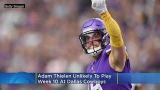 Adam Thielen Unlikely To Play Week 10 At Dallas Cowboys