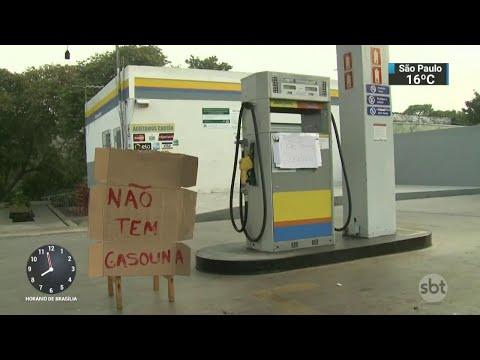 Quarto dia de paralisação agrava situação nos postos de combustíveis | SBT Brasil (24/05/18)