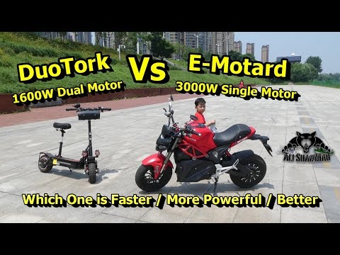 DuoTork Electric Scooter Vs Little Monster Electric Motorcycle