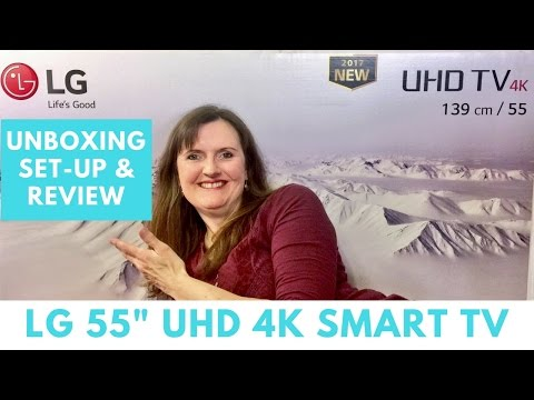"""LG 55UJ670V 55"""" 4K Smart TV - Unboxing, Setting Up and Review"""