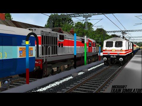 Kalka - Delhi Sarai Rohilla Himalayan Queen Express | LDH WDM3A | MSTS Open Rails Journey Part 1