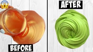 Fixing $1 Wish Slime EXTREME SLIME MAKEOVER $1 WISH SLIME *mind-blown*