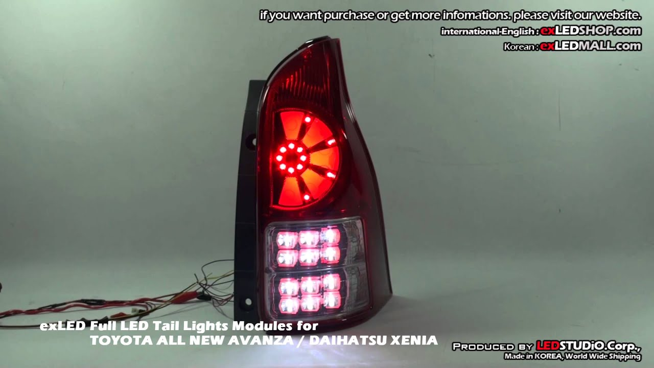 Exled Full Led Tail Lights Modules For Toyota All New Avanza    Daihatsu Xenia