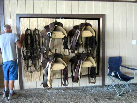 Custom Design Rotating Saddle Rack From Skiver Contracting