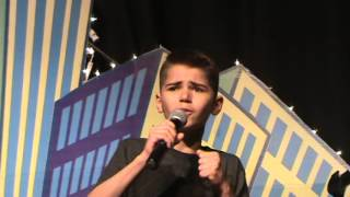 Nathan 6th grade Talent Show MGMS 2014 Imagine Dragons Demons acapella