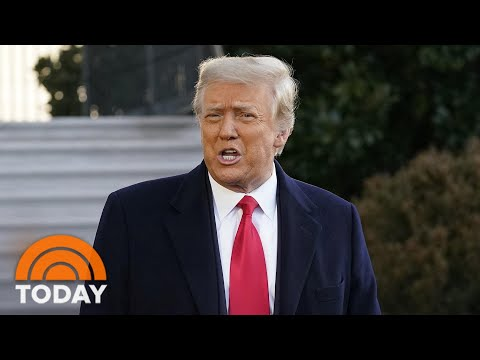 'Hopefully It's Not A Long-Term Goodbye' Trump Says As He Departs White House | TODAY