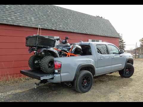 Toyota 2017 Tacoma TRD Pro first drive with trailer in Rockies Part One