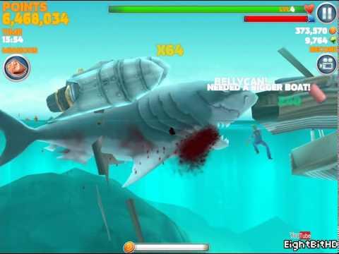 Hungry Shark Evolution Megalodon Jetpack Gameplay HD 1080p