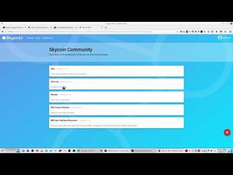 Skycoin BBS Showcase 4 - YouTube
