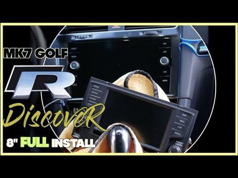 "How to Remove 8"" Discover Pro Media Android Auto Carplay Head Unit VW MK7 / MK7.5 Golf GTI R 2019"