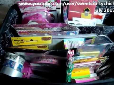 What's in My Bag? - My Filofax Caddy Set-Up - July 2013