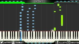 Aqua TimezよりALONESのピアノmidiです。 かなりハマってました。調号は...