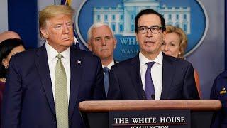 Trump,  Mnuchin speak to press during White House press briefing