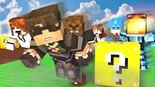 COMPLETE CHAOS! | Minecraft Mini-Game LUCKY BLOCK RACE! /w Facecam