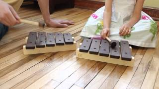 Handcrafted Wooden Xylophone Toy