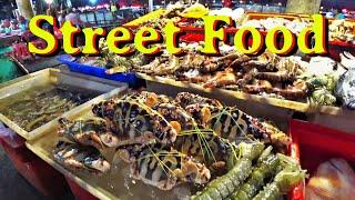 Best Street Food in PHUKET Banzaan Market Thailand Уличная еда Пхукет Тайланд