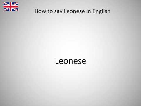 How to say Leonese in English?