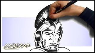 Curso de Desenho: Como Desenhar um Soldado Romano- (How to draw a roman solder)
